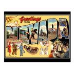 Cumprimentos do cartão do vintage de Nevada Cartões Postais