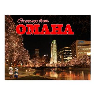 Cumprimentos do cartão dos contos de Omaha