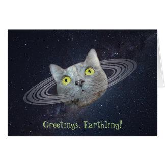 Cumprimentos do cartão engraçado do gato de Caturn