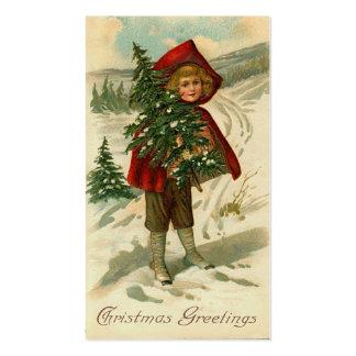 Cumprimentos do Natal do Victorian mini ou Tag do  Cartoes De Visitas