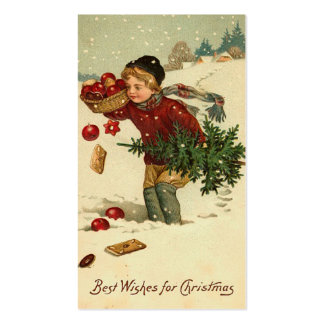 Cumprimentos do Natal do Victorian mini ou Tag do  Cartoes De Visita