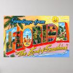 Cumprimentos do vintage de Florida Poster