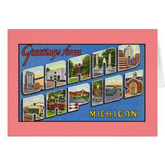 Cumprimentos do vintage de Grand Rapids MI Cartão