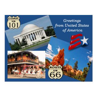 Cumprimentos dos Estados Unidos - cartão