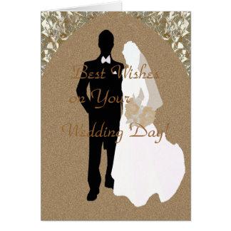 Cumprimentos em seus cartões de casamento