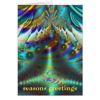 Cumprimentos internos das estações dos mundos do cartão comemorativo