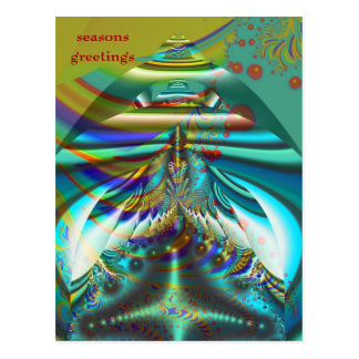 Cumprimentos internos das estações dos mundos do cartão postal