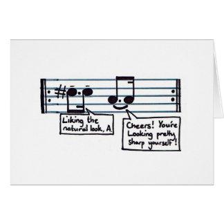 Cumprimentos musicais cartão de nota