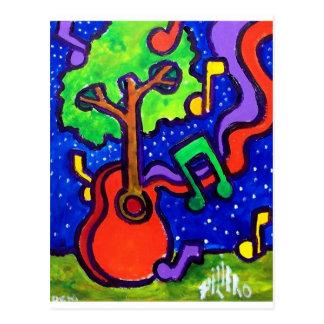 Cumprimentos musicais pelo piliero cartão postal