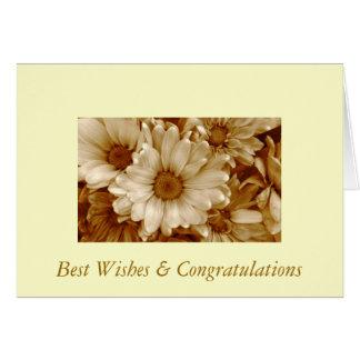 Cumprimentos & parabéns cartão comemorativo