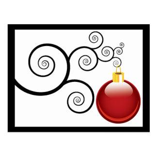 Cumprimentos vermelhos do cartão do Natal do Cartão Postal
