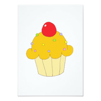 Cupcake alaranjado convite