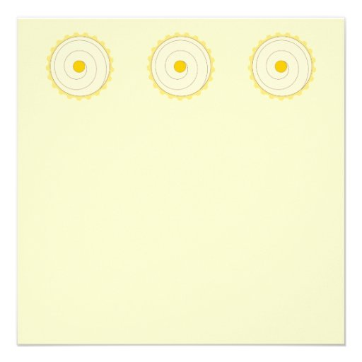 Cupcake amarelo. Bolo congelado Convite Personalizado
