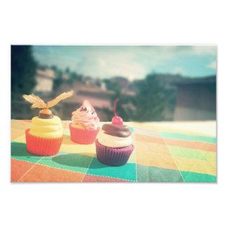 cupcake impressão de foto