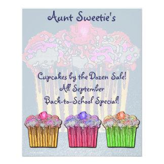 Cupcake Aviador da tia Docinho Panfleto Coloridos