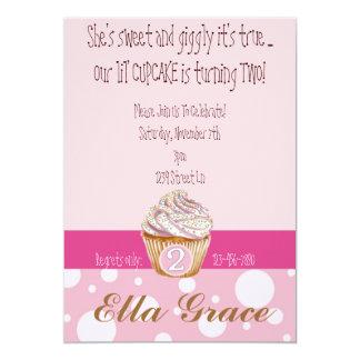Cupcake & bolinhas - ò convite 12.7 x 17.78cm