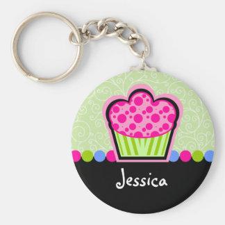 Cupcake bonito chaveiro personalizado