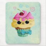 Cupcake bonito do gatinho mouse pad
