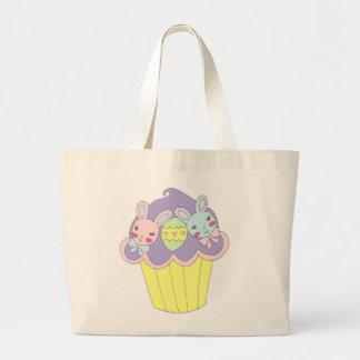 Cupcake bonito dos coelhinhos da Páscoa Bolsa Para Compra