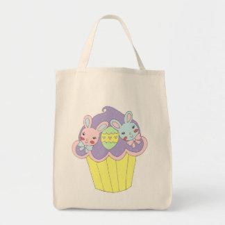 Cupcake bonito dos coelhinhos da Páscoa Bolsa Para Compras