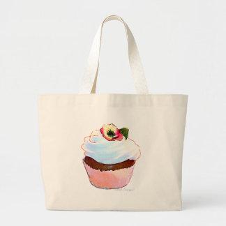 Cupcake com a sacola do design da arte do amor per bolsa para compra