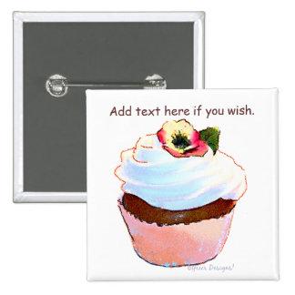 Cupcake com o ímã do design da arte do amor perfei boton