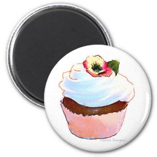 Cupcake com o ímã do design da arte do amor perfei ima