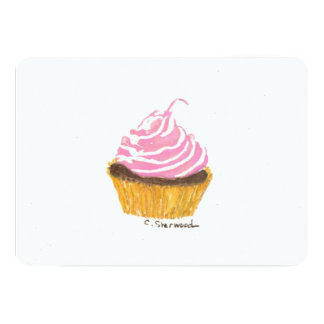 Cupcake Convite 12.7 X 17.78cm