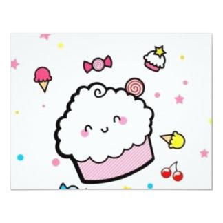 cupcake convite 10.79 x 13.97cm