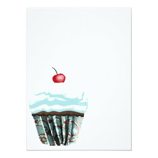 Cupcake Convite 13.97 X 19.05cm