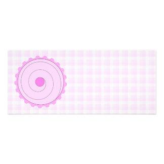 Cupcake cor-de-rosa bonito convite personalizados