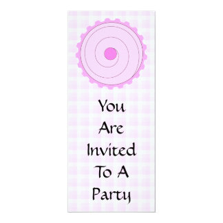 Cupcake. cor-de-rosa bonito convite 10.16 x 23.49cm