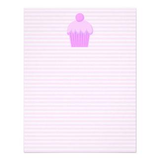 Cupcake cor-de-rosa convites personalizado