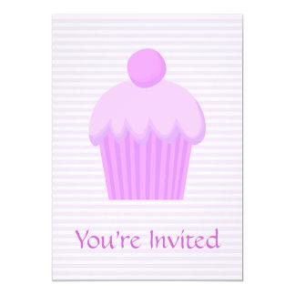 Cupcake. cor-de-rosa convite 12.7 x 17.78cm