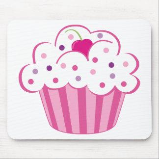 Cupcake cor-de-rosa mouse pad