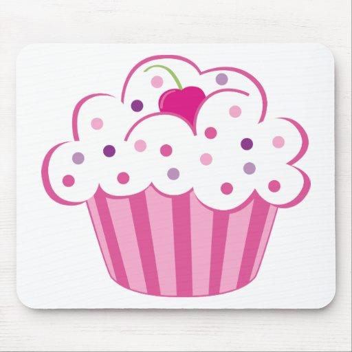 Cupcake cor-de-rosa mousepad