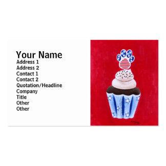 Cupcake da bandeira dos Estados Unidos para amante Cartões De Visitas