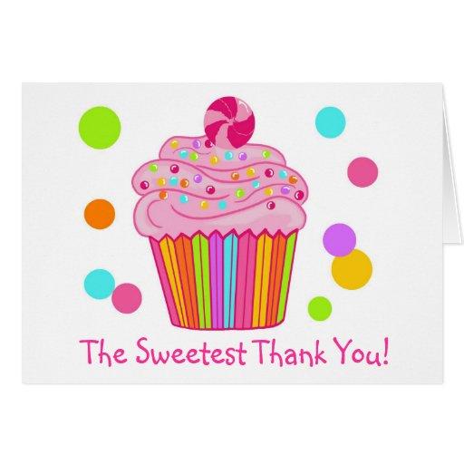 Cupcake da surpresa dos doces cartões