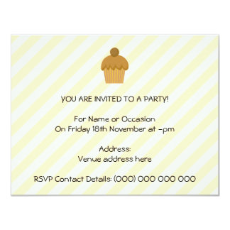 Cupcake. de Brown Convites Personalizados