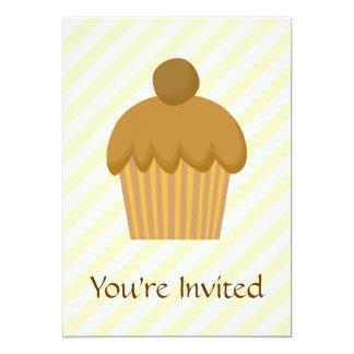 Cupcake. de Brown Convite 12.7 X 17.78cm