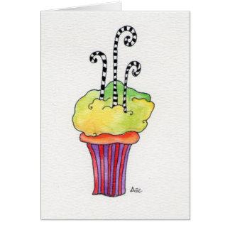 Cupcake de Whimsycake Cartão Comemorativo