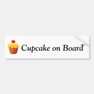 Cupcake dia o 15 de dezembro adesivo para carro