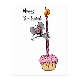 Cupcake do aniversário cartão postal
