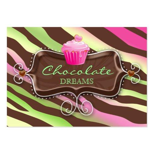 Cupcake do chocolate do certificado do cartão de p modelo de cartões de visita