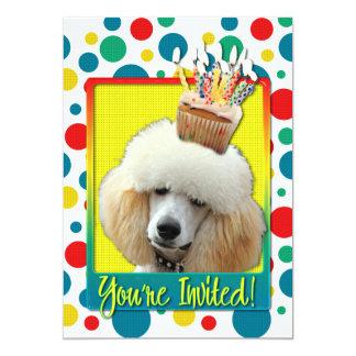 Cupcake do convite - caniche - abricó