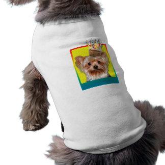 Cupcake do convite - yorkshire terrier camisa para cães