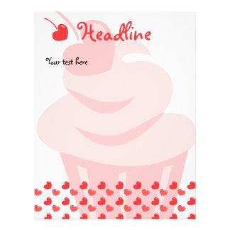 Cupcake do coração do pop modelos de panfleto