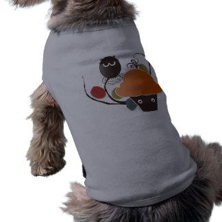 Cupcake do Dia das Bruxas Camisa Sem Mangas Para Cachorro