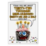 Cupcake do feliz aniversario - 90 anos velho cartao