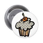 cupcake do impressão do leopardo botons